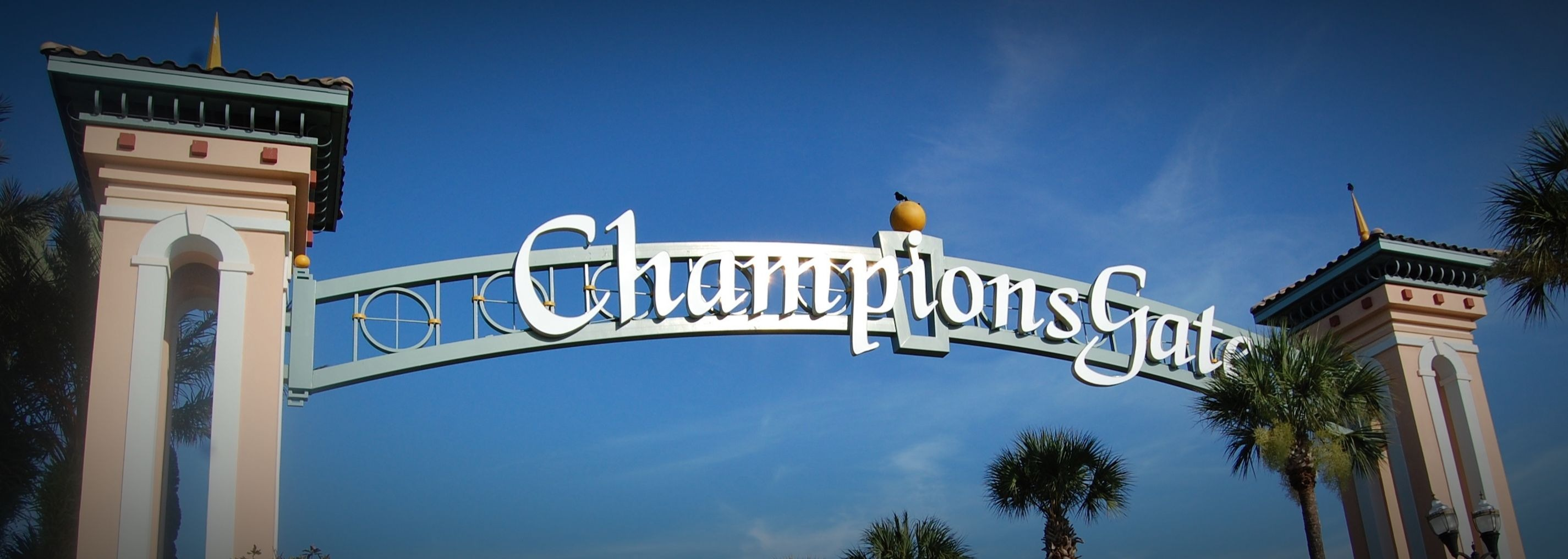 Picture of the arches at championsgate entrance