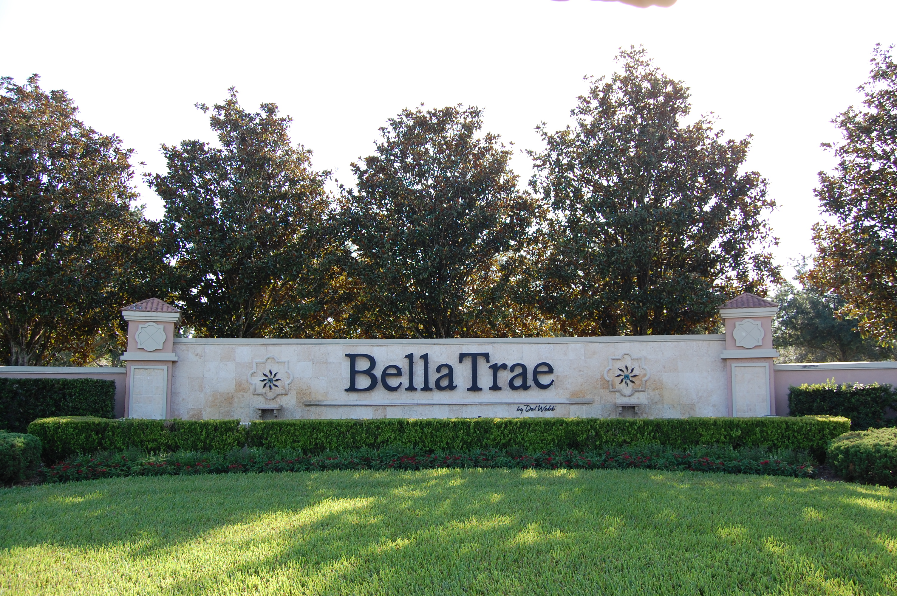 Entry sign for bella trae at championsgate