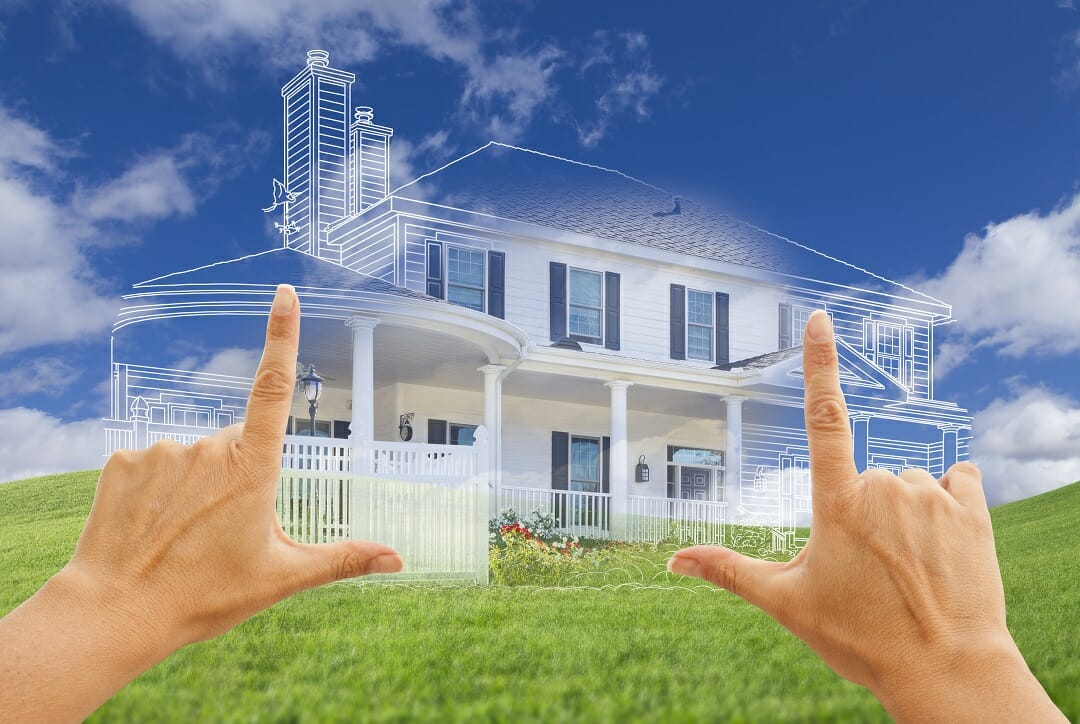 An imaginary home coming to life in between two hands of a champions gate real estate expert